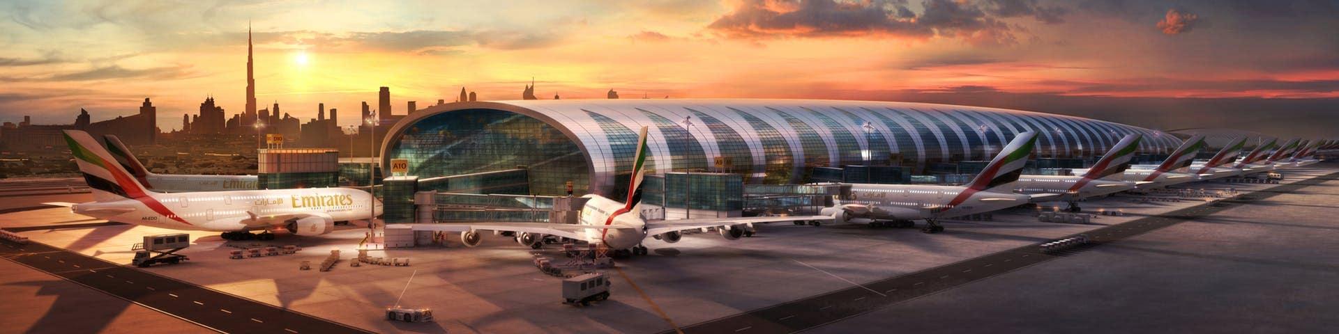 в какой терминал прилетает emirates в дубай