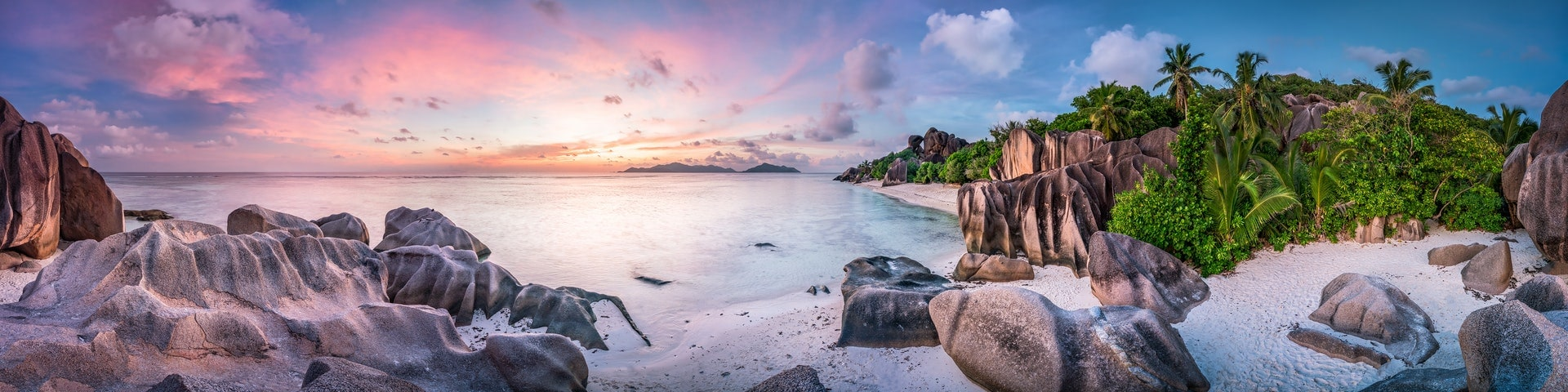 Beach at la digue seychelles