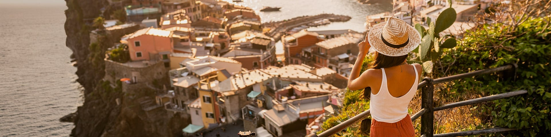 Tourist making a photo of Vernazza