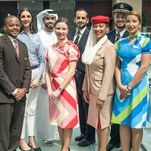 Emirates group staff group photo