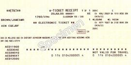 طباعة التذكرة الإلكترونية