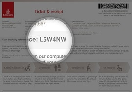 e-ticket receipt